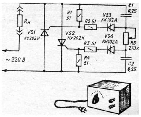 Регулятор напряжения на тиристоре схема фото 895