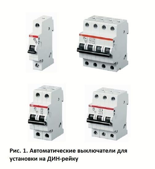 Auf den Automaten wird der Nenn- oder Abschaltstrom angezeigt ...