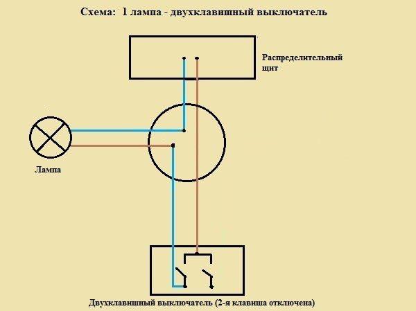 Схема подключить выключатель к лампе